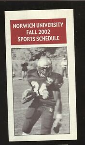 Norwich Cadets--2002 Football Schedule