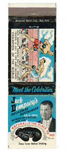 JACK DEMPSEY'S BROADWAY RESTAURANT NEW YORK BOXE MATCHBOX LABEL ANNI '50 AMERICA