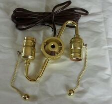 Double Socket S Shaped Pull Chain Lamp Part Cluster