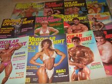 Lot Of 12 Muscular Development Bodybuilding Magazines/1986 COMPLETE YEAR