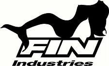 Fin Industries, Mermaid, Fishing, Tacklebox, Boat Sticker Decal
