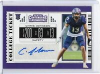 Chris Johnson RC Auto 2019 Contenders Draft Picks #234 North Alabama Safety