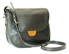 Fossil Emi Black Leather Saddle Crossbody Bag