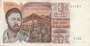 AFRIQUE    GUINÉ  BISSAU    100   PESOS  1975      V   FINE