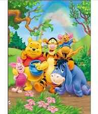 8x8FT Pooh Winnie Bear Rainbow Sky Custom Photo Studio Background Backdrop Vinyl