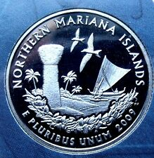 PROOF GEM 2009 S NORTHERN MARIANAS ISLAND USA Proof Struck Quarter, w HOLDER