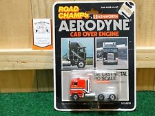 1981 Road Champs Kenworth Aerodyne K100 COE Cab Over 1:64 Scale Red Metal Truck