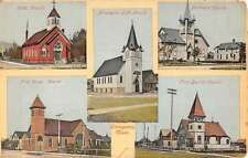 Livingston Montana Church Multiview Exterior Antique Postcard K21956