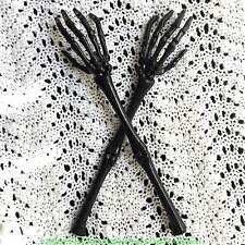 Halloween Gothic SKELETON HAND ARMS TONGS SERVER Kitchen Utensil Tableware-BLACK