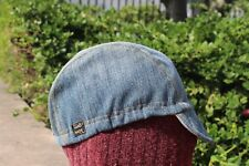 Cycling cap  VINTAGE DENIM  one size 100% COTTON   handmade new