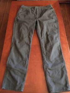 REI Cooperative Gray Cotton Blend Straight Leg Utility Trail Hiking Pants Women