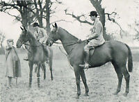 Duke With The Prince Of Wales At A Farmers Meet 1937 Vintage Print TDOY#36