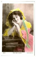 Antique RPPC postcard Miss Annie Purcell actress singer stage theatre