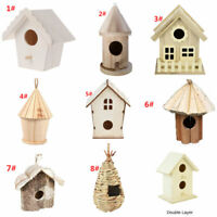 Mini Bird House Nest Wooden Nest House Bird Box Wood Birdhouse Garden Decor