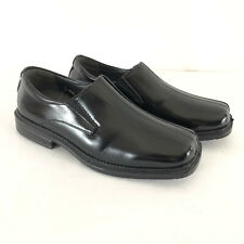 Deer Stags Wings Boys Dress Shoes Loafers Comfort Slip-On Faux Leather Black 3