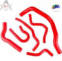 For 92-2000 Honda Civic Type-R Ek4 Ek9 Silicone Radiator Coolant Hose Kit Red
