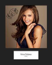 NINA DOBREV #1 Signed Photo Print 10x8 Mounted Photo Print