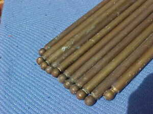 10 x VICTORIAN BRASS STAIR CARPET RODS @ 30 INCHES & 1 @ 29 INCHES