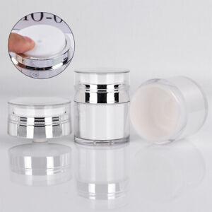 15/30/50ml Airless Pump Cosmetic Jar Empty DIY Lotion Face Cream RefillabLO