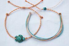 2 Pack Adjustable Original Viva la vida Friendship bracelets Turtle braided NEW