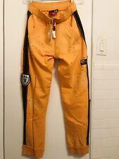 NWT Men's XTG Extreme Game Gym Pants Destroyed/ Orange- S