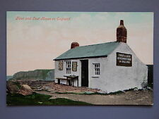 R&L Postcard: First and Last House in England, Lands End Postmark, Valentines