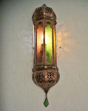 applique murale Marocaine fer forgé lampe lustre lanterne multicolore spot 50cm