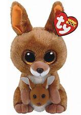 "Ty Beanie Boos 6"" Kipper the Kangeroo Stuffed Animal Plush NWMT's w/ Heart Tags"