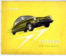 Citroen ID 19 & DS 19 Saloon Safari Executive 1959-61 UK Market Sales Brochure