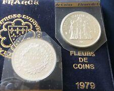 FDC : Pièce de 50 francs HERCULE argent 1979 neuve/scellée