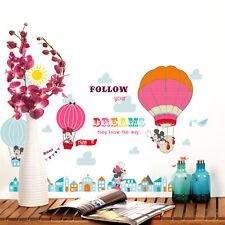 Disney Mickey Minnie Hot Air Balloon Wall stickers Border Decal Kids Decor Mural