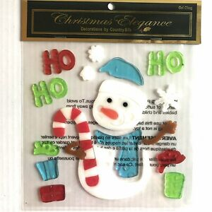 Ho Ho Ho Christmas Window Gel Cling Holiday Decor