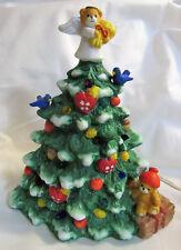 Lucy & Me ~ Christmas Tree Angel ~ Porcelain Lights Up! Night Light Figurine