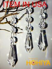 60x Acrylic Crystal Hanging Decorations Garland Bead Strands Wedding Party Decor