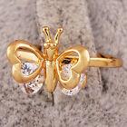 Wedding Gold Plated Eternity Womens Swarovski Crystal Butterfly Lady Rings SZ 6