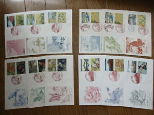 Japan Stamp First Day Cover International Letter-Writing Week Greeting 12 Covers