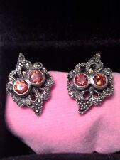 Pendientes de plata 925, circonitas y marcasitas / Stud sterling silver earrings