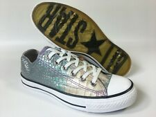 New listing Rare! Women's Men's Converse All Star Embossed Leather Trainers Shoes UK Size 5