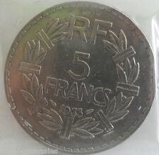 5 francs lavrillier nickel 1933 : TTB : pièce de monnaie française