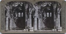 Armentières église en ruine Grande Guerre 14-18 WW1 Stéréo Stereoview