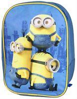 New Minions Kids Rucksack Dispicable Me Travel Bag Shool Bag Zip Shoulder Strap
