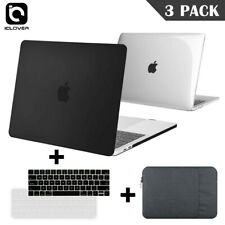 For Macbook Air/Pro 13 inch Matte Hard Case +Keyboard Cover +Laptop Sleeve Bag