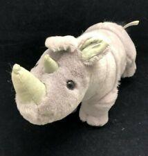 """Vintage 1998 Plush Rhinoceros Stuffed Animal - 14"""""""