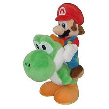 "Super Mario (1241) 8"" Mario Riding Yoshi Plush Little Buddy 1241 USA Nintendo"