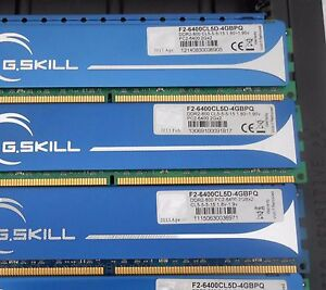 G.SKILL 8GB (4 X 2GB) DDR2 PC2-6400 800Mhz NON-ECC DESKTOP MEM F2-6400CL5D-4GB