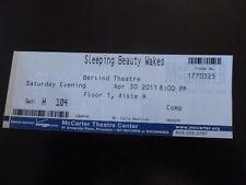 Sleeping Beauty Wakes 2011 Play Ticket Stub Berlind Theatre Princeton NJ