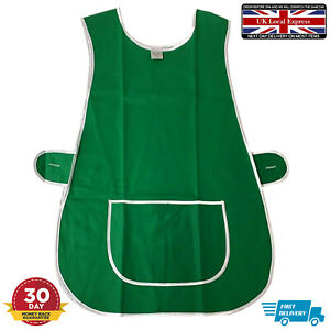 Green Cookware Apron Dining Kitchen Bar catering Pocket DIY Universal Size Plain