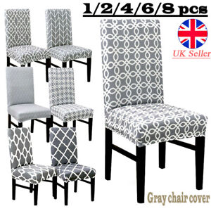 Floral Elastic Dining Chair Covers Kitchen Chair Protective Slipcovers High Back