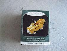 1998 Hallmark Ornament Miniature Kiddie Car Murray Dump Truck Nib