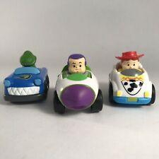Little People Toy Story Wheelies lot of 3 cars Buzz Jessie Rex